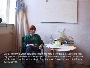 """Kristin Tårnes, stillbilde fra """"Hvorfor, hvor, hvordan"""", 2011. Foto: Kristin Tårnes"""