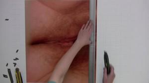 """Vilde Andrea Brun, stillbilde fra videoverket """"Selvrefleksjon"""", 2011. Foto: Vilde Andrea Brun"""